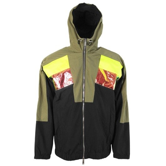 17d306ead4 Neon Patch Zip Up Jacket Black/Green - Dsquared2 | Hervia