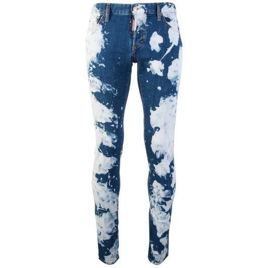4a17f3aca2 Bleached Effect Slim Fit Jeans Blue - Dsquared2