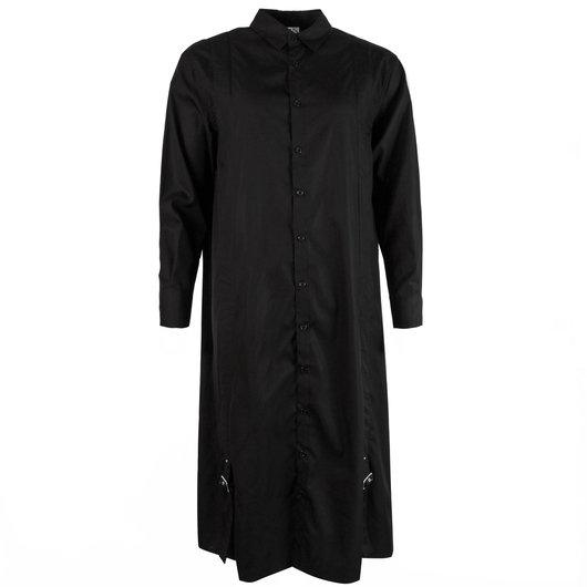 100% high quality amazing price buy best Longline Buckle Shirt Dress Black