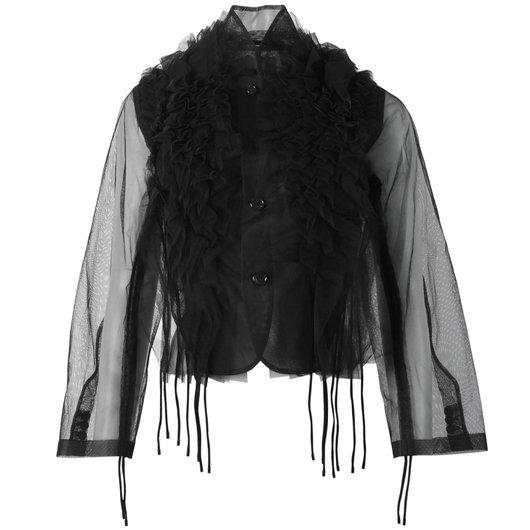 1ee363d64e130 View Ruffle Sheer Jacket online. Comme des Garçons Noir Kei Ninomiya