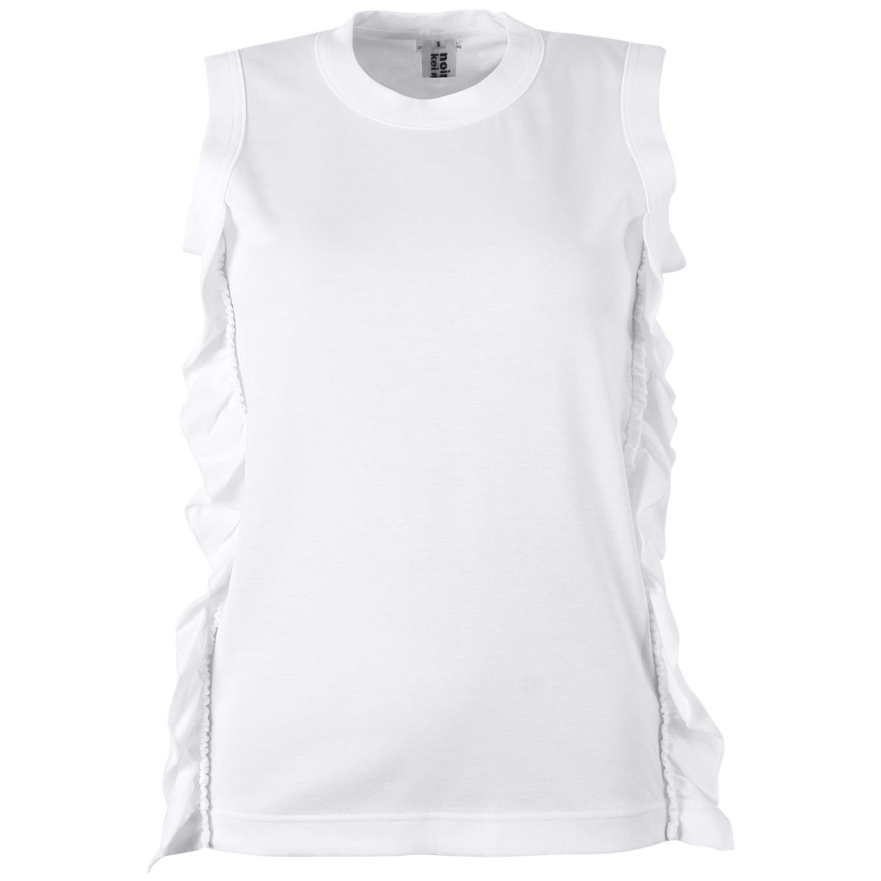 7b00a2a940f55 View Sleeveless Frill Detail Top White online. Comme des Garçons Noir Kei  Ninomiya