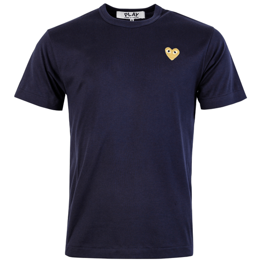 big discount new arrive reliable quality T216 Gold Heart T-Shirt Navy