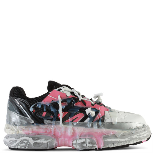 ea759ed9554 Deconstructed Fusion Low-Top Leather Sneakers Bubblegum