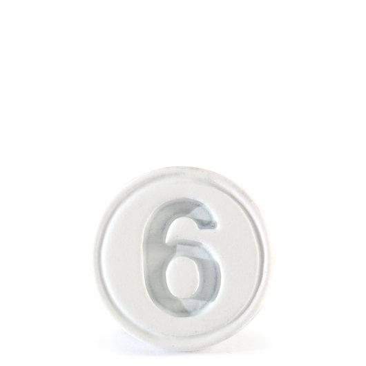 save off 91429 8e889 6 Logo Signet Ring White