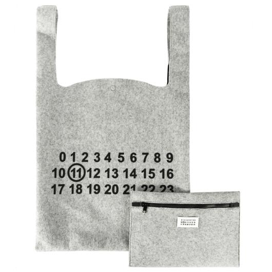 separation shoes 02d0b 7de46 Oversized Numbers Logo Tote Bag Grey