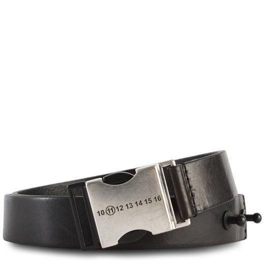 d5459192d9a Small Buckle Leather Belt Black