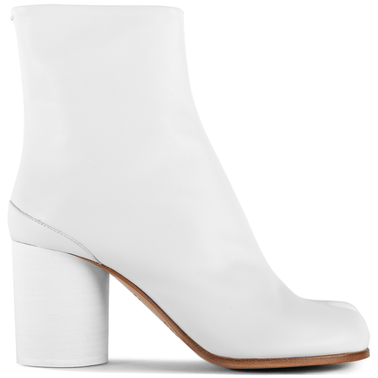 online for sale outlet for sale new high quality Maison Margiela Tabi Smooth Leather Heeled Boots White   Hervia