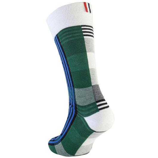 b453c14ed4b7 Mid-Calf Checked Socks - Thom Browne   Hervia