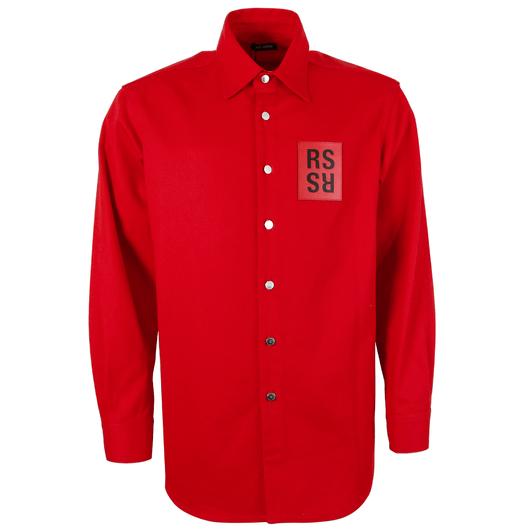 7df0c04f916 Logo Patch Denim Overshirt Red