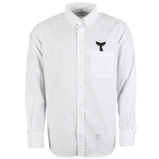 defabf7d31f Long Sleeve Button Down Oxford Shirt - Thom Browne   Hervia
