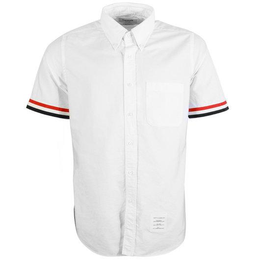 bad0ac6db3a View Short Sleeve Oxford Shirt W/ Grosgrain Cuff online. Thom Browne