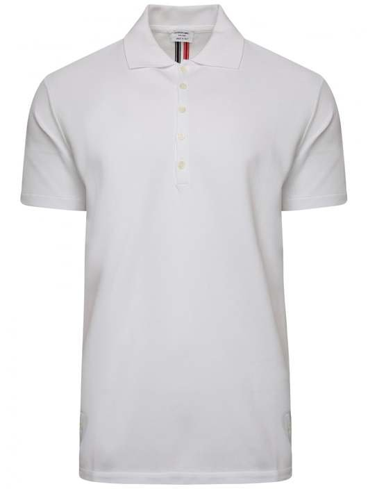 a5aff006 Thom Browne MJP042A 00050 100 POLO in White. MJP042A 00050 100 POLO. HOVER  ITEM TO ZOOM. MJP042A 00050 100 POLO Thumbnail