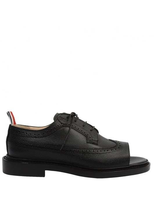 e3e8f17ad Peep Toe Leather Longwing Brogues - Thom Browne   Hervia
