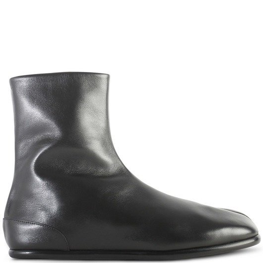 Maison Margiela Tabi Leather Flat Boots