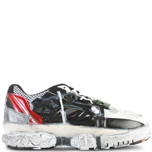 dcb6c5e8790 Deconstructed Fusion Low-Top Leather Sneakers