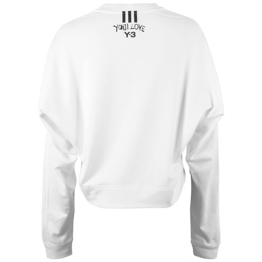 299b2e9fc0d DY7229 Cropped Yohji Love Sweatshirt - Y-3 | Hervia