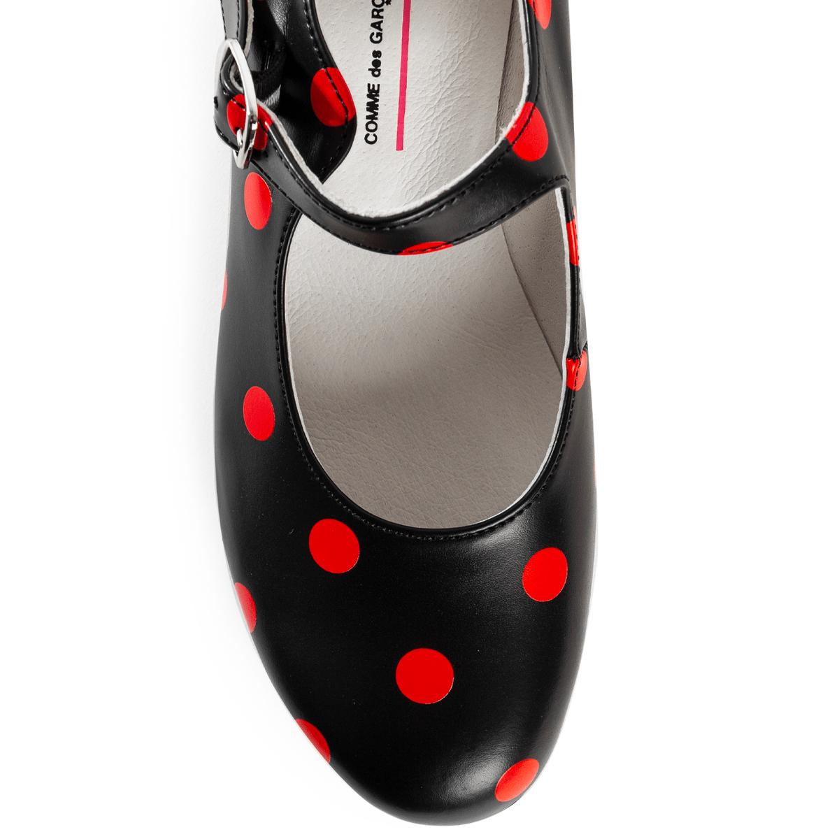 Girl Polka Dot Mary Jane Shoes | Hervia