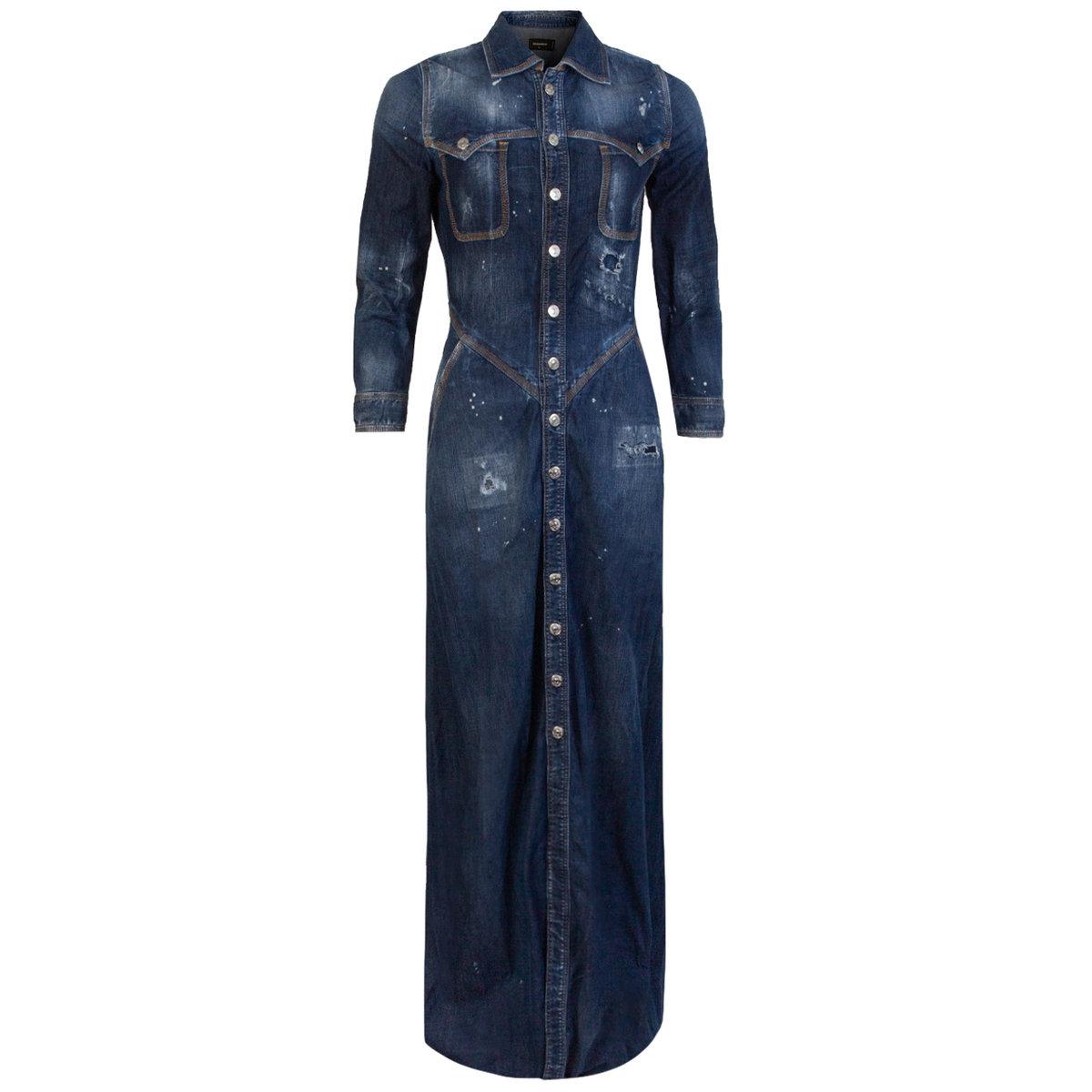 Denim Maxi Shirt Dress