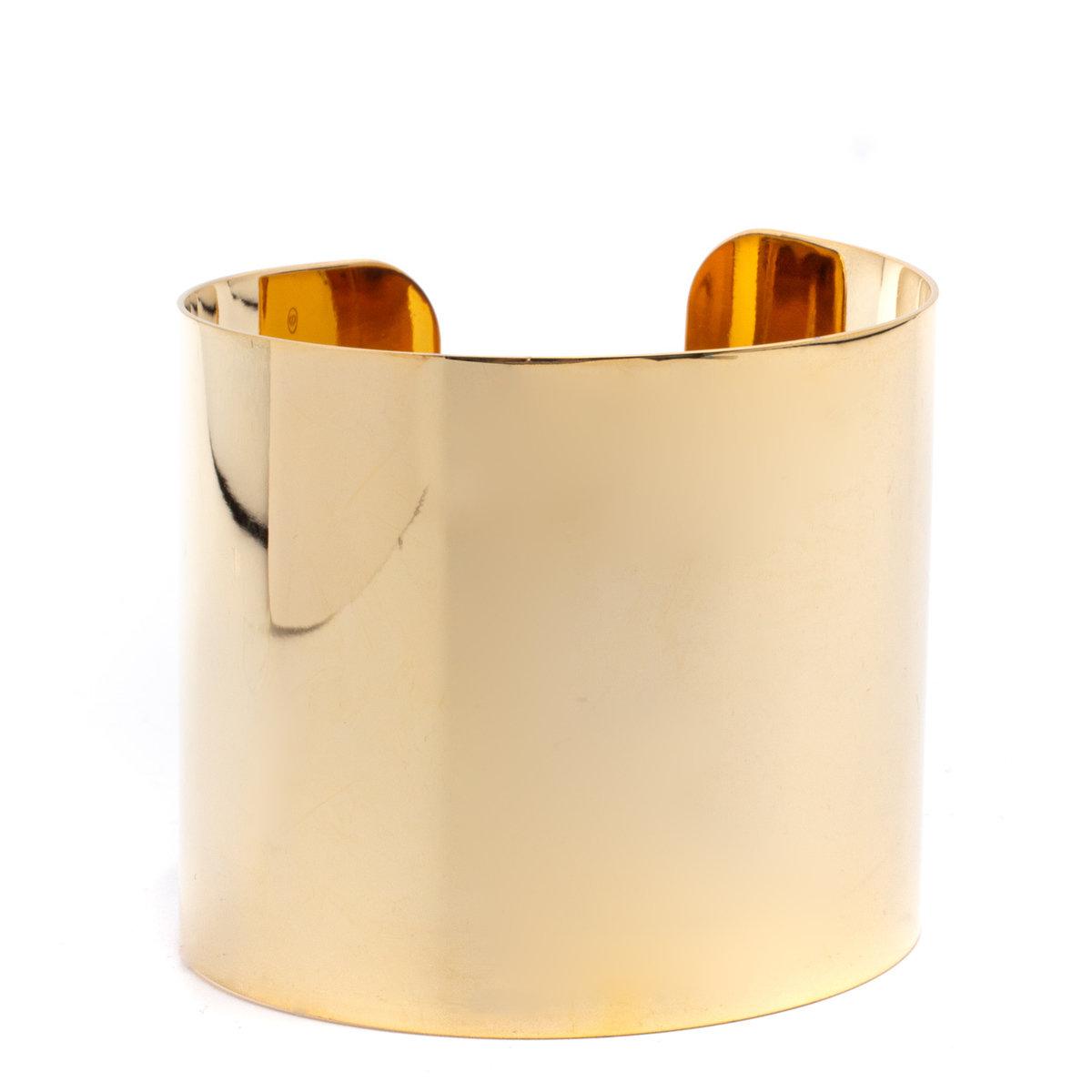 Bracelet large channel MarseilleMucem gold filled