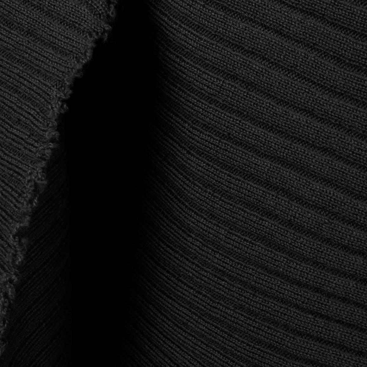 Marques Almeida Merino Wool Asymmetric Draped Skirt Black Hervia