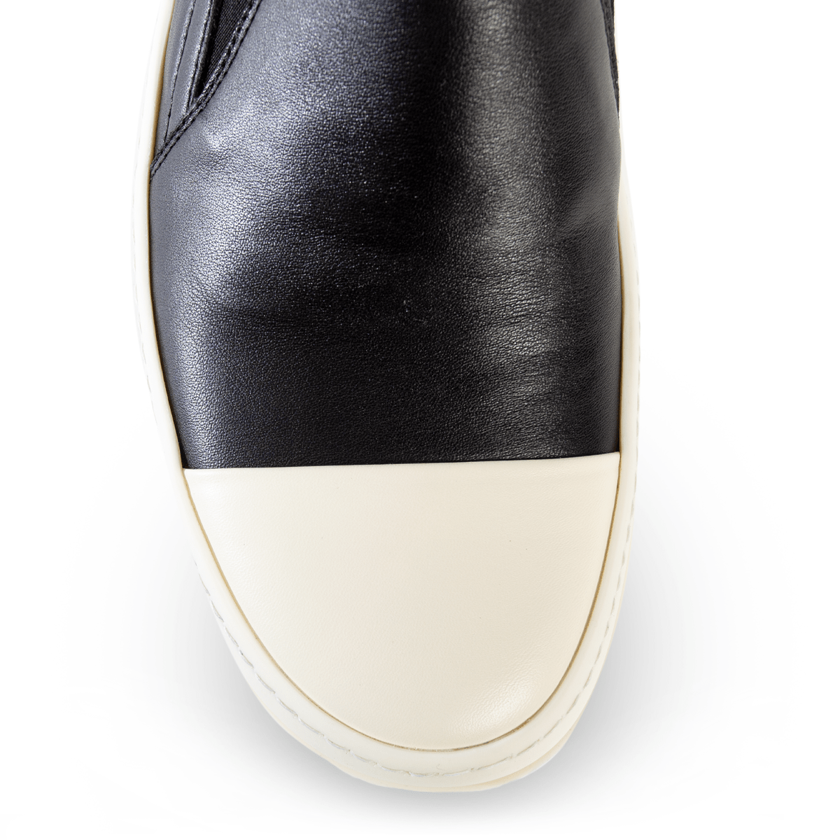 Rick Owens Low Leather Slip-On Boat