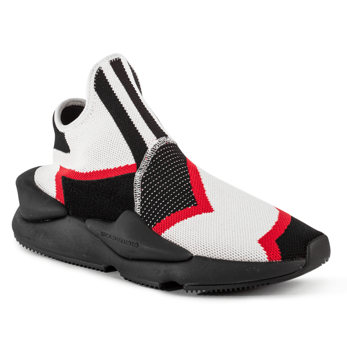red white and black sneakers